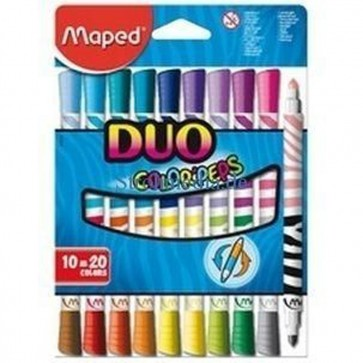 DUO COLORPEPS X 10 FELT TIPS=20 COLOURS