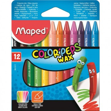 Maped Crayons Colour'Peps Wax  12 Pieces  M861011