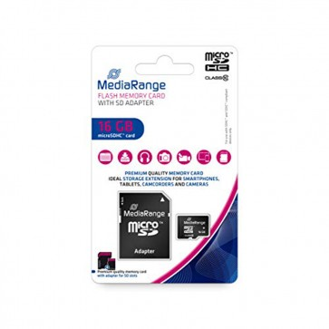 MediaRange MR958 SDHC memory card 16GB class 10 with SD Adapter
