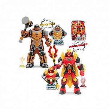 Gormiti Action Figures – Articulated 25 cm with Light and Sound  Multicoloured (GIOCHI PREZIOSI grm03000)  Assorted models  1 units