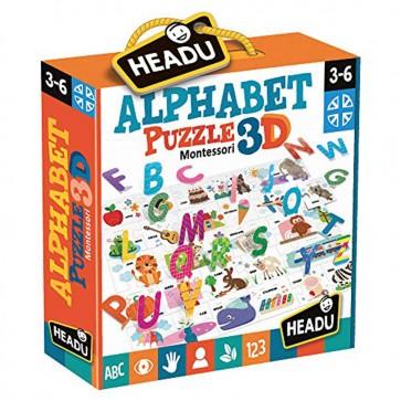 HEADU Montessori Alphabet 3D Puzzle 767