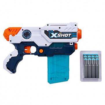 X-SHOT  EXCEL 3693 Excel Clip Hurricane (12 Darts) by ZURU  Grey  Blue  One Size