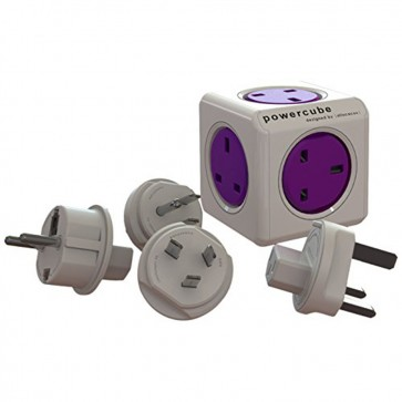 Allocacoc PowerCube Power Cube Rewireable UK Power Socket plus International Travel Plugs