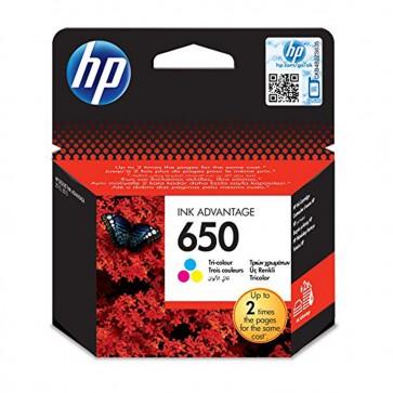 HP CZ102AE - No.650 color (C/Y/M) - Warranty: 1Y
