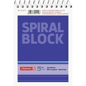 Brunnen 1055171Spiral Notepad/Notebook (A7  Ruled  50Sheets  60g/m²)