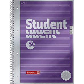 Brunnen 1067144Notepad/Student Premium Note Ruled Set Treated Cover with Metallic Effect A490g/m² 50Sheets