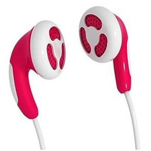 Auriculares Maxell Colour Budz M138 in-ear Rojo