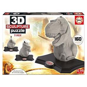 Educa Borrás 16967.0–T-Rex–3D Sculpture Puzzle–160Pieces
